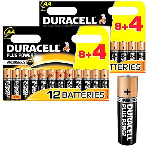 24x DURACELL Plus MN1500 AA Batteries Long-Dated (Total Qty=24) from Duracell