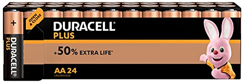 Duracell Plus Power Type AA Alkaline Batteries, Pack of 24 from Duracell