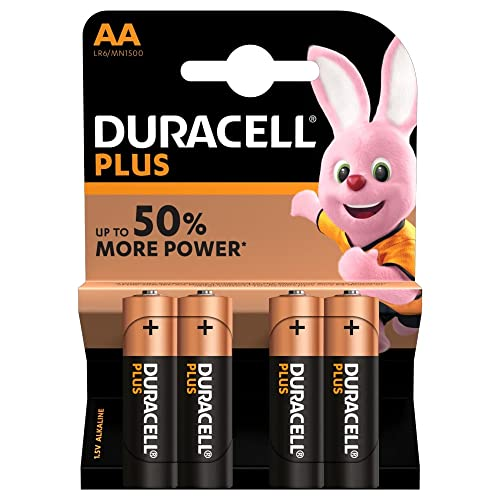 Duracell Plus Power Type AA Alkaline Batteries, Pack of 4 from Duracell