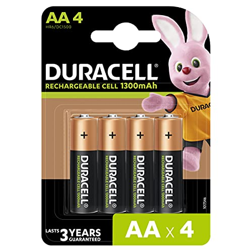 Duracell HR6 / DC1500 Pack of 4 Piles AA 1300 mAh from DURACELL