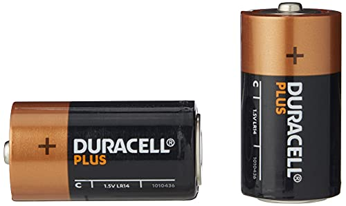 Duracell Plus Power Type C Alkaline Batteries, Piece of 2 from Duracell