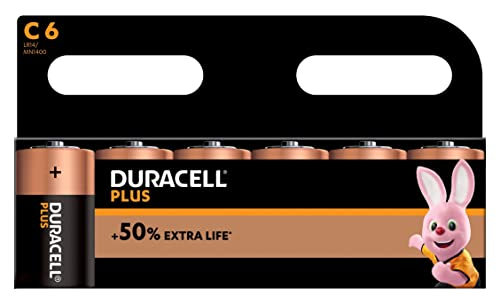 Duracell Plus Power Type C Alkaline Batteries, pack of 6 from Duracell