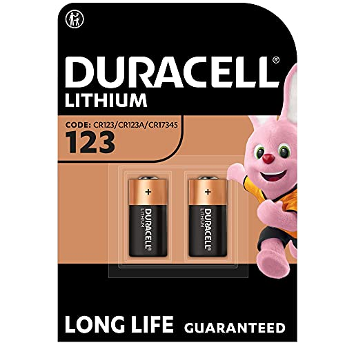 Duracell High Power Lithium 123 Battery 3 V, Pack of 2 (CR123 / CR123A / CR17345) for Arlo Cameras, Photo Flash, etc from Duracell