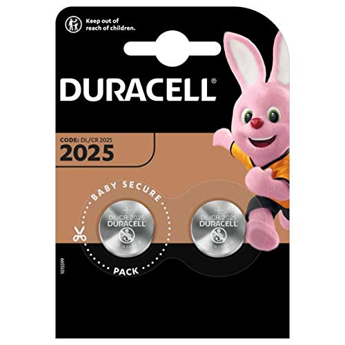 Duracell Specialty 2025 Lithium Coin Battery 3V, pack of 2 (DL2025/CR2025) from Duracell