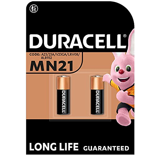 Duracell Specialty Alkaline MN21 Battery 12 V, Pack of 2 (A23/23A/V23GA/LRV08/8LR932) Designed for Use in Remote Controls, Wireless Doorbells and Security Systems from Duracell