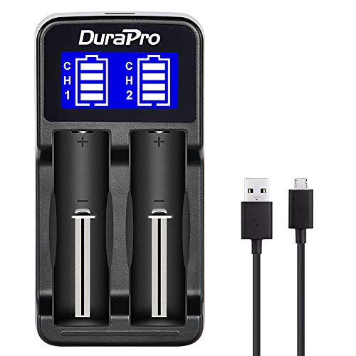 Durapro LCD Universal Intelligent USB Dual Battery Charger for Li-ion / Ni-MH/Ni-Cd 18650 18490 18350 17670 17500 16340(RCR123) 14500 A AA AAA AAAA Rechargeable Batteries from Durapro