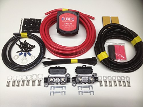 8mtr Split Charge Relay Kit 12v 140amp Durite 0-727-33 Intelligent Voltage Sense Relay SCKD118 from Durite