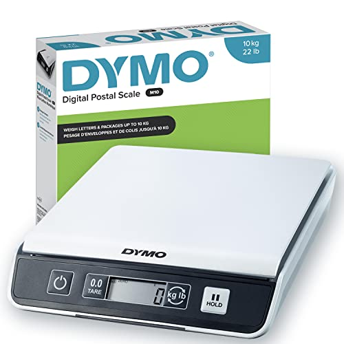 Dymo S0929010 M10 Mailing Scales, Silver/Black, 10 kg from Dymo