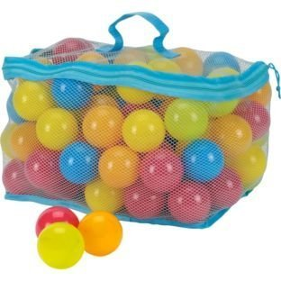Dynamic 100 Multi Coloured Play Balls With Net Carry Bag from Dynamic