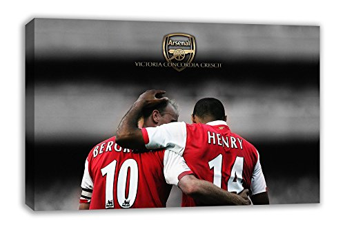 "ARSENAL LEGENDS HENRY & BERGKAMP CANVAS WALL ART (30x18"") from Dynamo Printing Ltd"