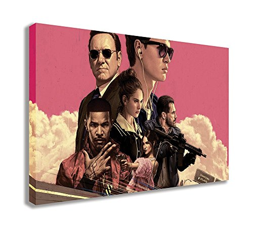 "Baby Driver 2017 Canvas Wall Art (30"" X 18"" / 75 X 45cm) from Dynamo Printing Ltd"