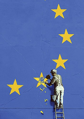 Banksy Chipping Away at EU Poster (A2-594x420MM) from Dynamo Printing Ltd