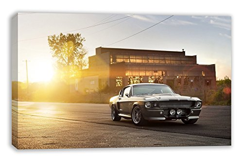"Classic 1967 GT500 Ford Mustang Muscle CAR Vintage Eleanor Canvas Wall Art (44""x26"" (110x65cm)) from Dynamo Printing Ltd"