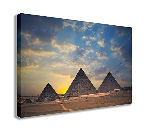 "Egypt Iconic Pyramids Wonders of The World Canvas Wall Art (30"" X 18"" / 75 X 45cm) from Dynamo Printing Ltd"