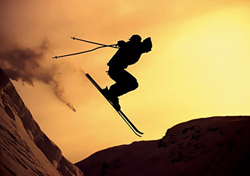 EXTREME JUMPED SKIING POSTER (A0-1189x841MM) from Dynamo Printing Ltd