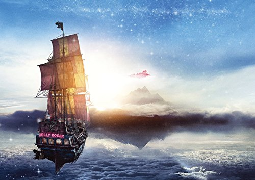 Jolly Roger Peter PAN Pirate Ship Poster (A0-1189x841MM) from Dynamo Printing Ltd