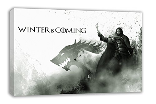 "JON SNOW GAME OF THRONES WINTER IS COMING CANVAS WALL ART (44X26"") from Dynamo Printing Ltd"