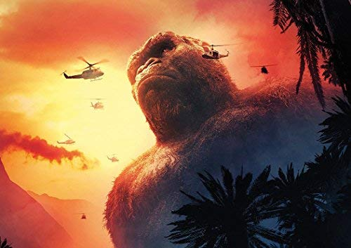 KONG SKULL ISLAND 2017 MOVIE POSTER (A2-594x420MM) from Dynamo Printing Ltd