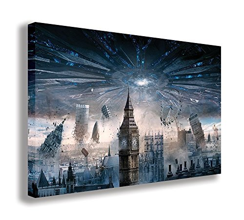 "London Independence Day Resurgence Canvas Wall Art (30"" X 18"" / 75 X 45cm) from Dynamo Printing Ltd"