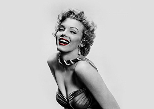 MARILYN MONROE RED LIPSTICK HOLLYWOOD ICON POSTER (A1(841X594MM)) from Dynamo Printing Ltd