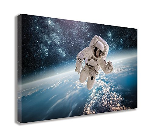 "NASA ASTRONAUGHT Space Walk Planet Earth Orbit Canvas Wall Art (44"" X 26"" / 110 X 65cm) from Dynamo Printing Ltd"