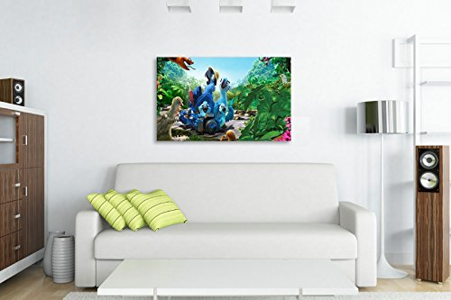 "Rio The Movie Blue Jewel Canvas Wall Art (44"" X 26"" / 110 X 65cm) from Dynamo Printing Ltd"