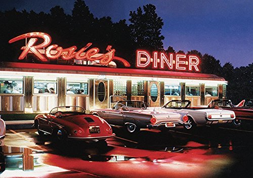 ROSIES Diner Poster (A2 (594x420MM)) from Dynamo Printing Ltd
