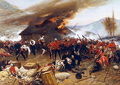 Royal Engineers The Defence of RORKES Drift Battle 1880 RORKES Poster (A2-594x420MM) from Dynamo Printing Ltd