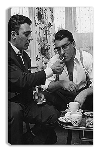 "The Kray Twins Reggie Lighting Ronnies Cigarette Canvas (18X30"") from Dynamo Printing Ltd"