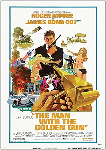The Man with The Golden Gun James Bond 007 Roger Moore Vintage Classic Movie Poster (A0-1189x841MM) from Dynamo Printing Ltd