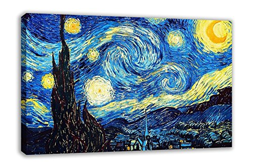 "THE STARRY NIGHT VINCENT VAN GOGH CANVAS WALL ART (30X18"") from Dynamo Printing Ltd"