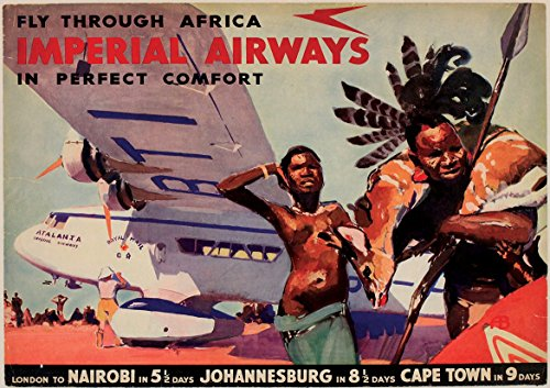 Vintage Imperial Airways Fly Through Africa   Poster (A0-1189x841MM) from Dynamo Printing Ltd