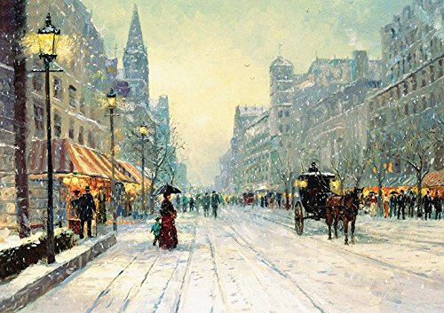 Winter London Painting Poster (A0 (1189x841MM)) from Dynamo Printing Ltd