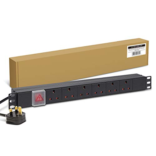 Dynamode 1U 6 Way Horizontal 13A Switched PDU from Dynamode