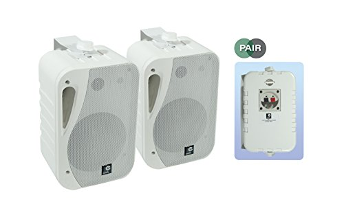 e-audio 5.25 3-Way Background Music Speakers With Brackets 160W 4 Ohm from eAudio