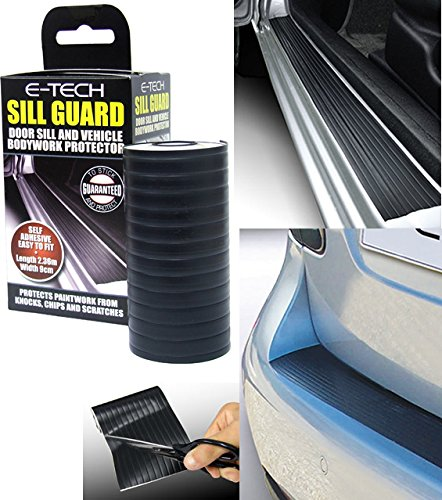 "E-Tech Black Door Sill Guard And Lower Bodywork Protector 2.36M (96"") from E-Tech"