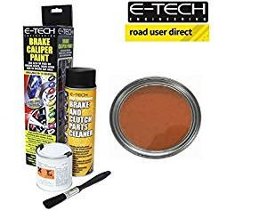 E-Tech Brake Caliper Paint - COPPER - Complete Kit Inc Paint/Cleaner & Brush from E-Tech
