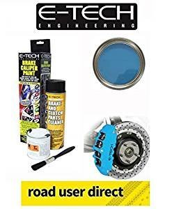 E-Tech Brake Caliper Paint - SKY BLUE - Complete Kit Inc Paint/Cleaner & Brush from E-Tech
