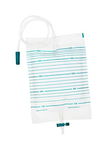 10Pcs Pack 2000ml Urine Drainage Bag - Drainable, Non Sterile from E&E Medical Supplies Ltd.