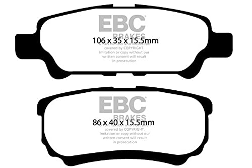 EBC Brakes DP61563 Green stuff Brake Pads 6000er-Serie from EBC