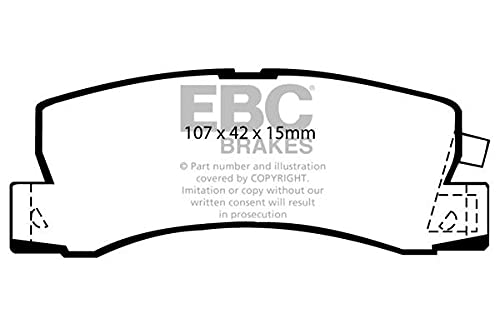 EBC Brakes DP628 Blackstuff Brake Pads from EBC