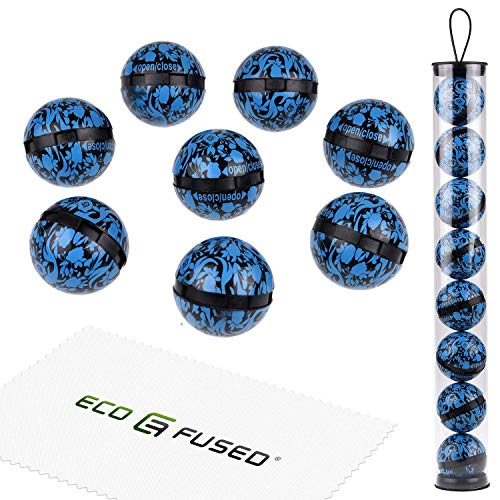 Eco-Fused Deodorizing Balls for Sneakers, Lockers, Gym Bags - 8 Pack - Neutralizes Sweat Odor - Also Great for Homes, Offices and Cars - Easy Twist Lock/Open Mechanism - Ocean Fresh from ECO-FUSED