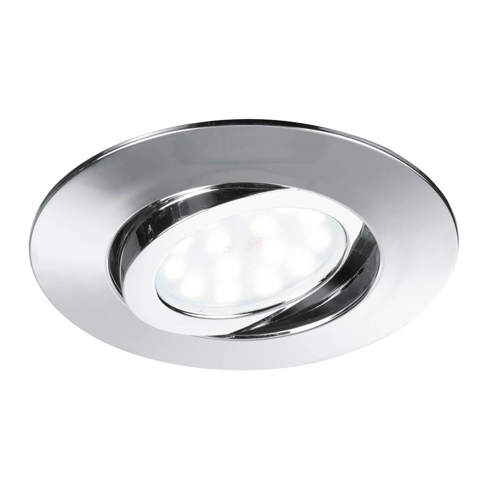 LED recessed ceiling spotlight Zenit chrome from Eco-Light