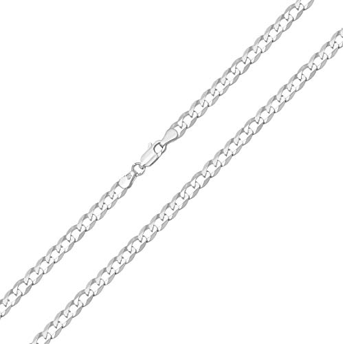 925 Sterling Silver Gents/Men Curb Chain - 61cm*4mm WJS14029 from EDS Jewels