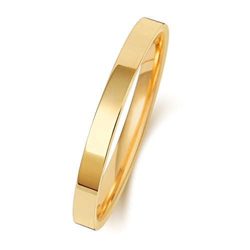 Light 9ct Gold 2mm Flat Court Comfort Men/Ladies Wedding Band/Ring WJS151479KY from EDS Jewels