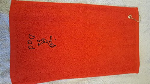 Personalised Terry Towelling BADMINTON Sports Towel Embroidered With A Curved Personalised Name - 50x30cm (Red) from EFY