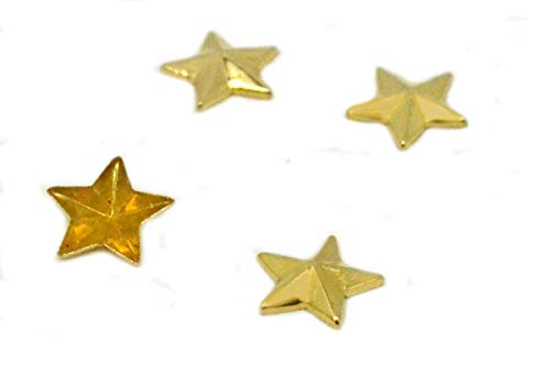 100 Pieces pack, Gold 10mm, EIMASS® Hot Fix Iron on Star Metal Studs, DIY Embellish Bags Shoes Costume Craft (10mm, Gold Star Studs) from EIMASS® London Based Company