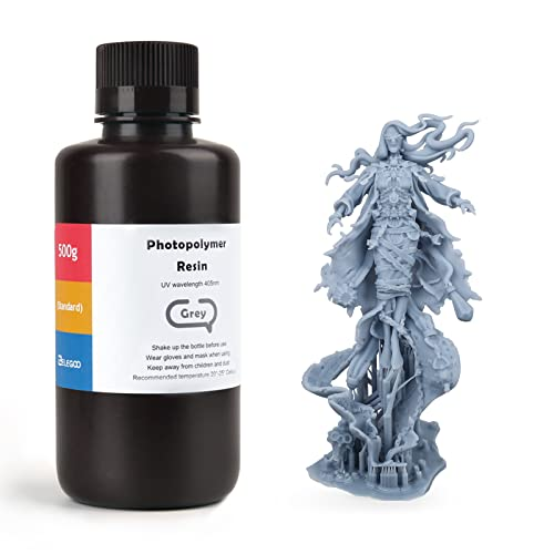 ELEGOO LCD UV 405nm ABS-Like Rapid 3D Resin for LCD 3D Printer 500g Photopolymer Resin Grey from ELEGOO