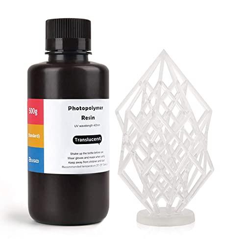 ELEGOO LCD UV 405nm Rapid Resin for LCD 3D Printer 500g Photopolymer Resin Translucent Resin from ELEGOO