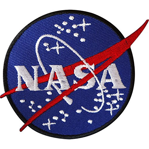 NASA Iron On Patch/Sew On Badge for Astronaut Space Fancy Dress Costume Jacket from ELLU